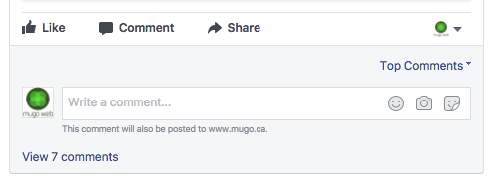 A Facebook comment widget with a link to view 7 comments.